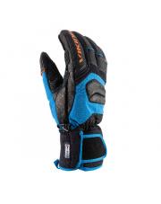 Rękawice narciarskie racingowe Kaprun Viking czarno niebieskie