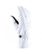 Damskie rękawice narciarskie Aliana Viking białe