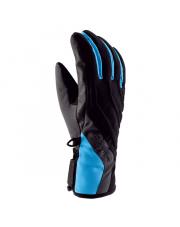 Sportowe rękawiczki damskie Axelina Viking czarno niebieskie