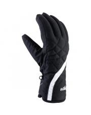 Damskie rękawiczki sportowe Ester Viking czarne z białym