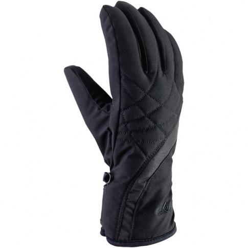 Damskie rękawiczki sportowe Ester Viking czarne z szarym