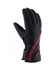 Damskie rękawiczki sportowe Ester Viking czarne z bordowym