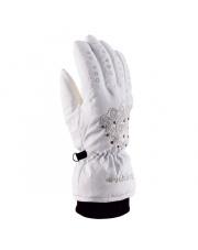 Damskie ozdobne rękawice Femme Fatale Viking białe