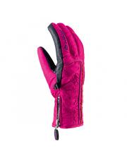 Damskie rękawice z zamkiem Grace Viking różowe
