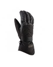 Damskie rękawice narciarskie Karen Viking czarno szare