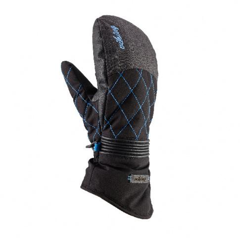 Damskie rękawice na narty Karen Mitten Viking czarno niebieskie