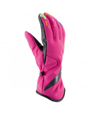 Damskie rękawiczki narciarskie Kenza Viking różowe
