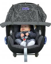 Osłonka do wózka i fotelika Dooky Design Grey Leaves