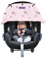 Osłonka do wózka i fotelika Dooky Design Pink Heart