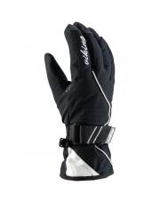 Rękawice narciarskie z sofshellu Tesera Viking czarno białe