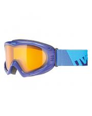 Gogle narciarskie o średniej wielkości oprawce Cevron Uvex fioletowo niebieskie