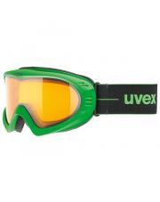 Gogle narciarskie o średniej wielkości oprawce Cevron Uvex czarno zielone