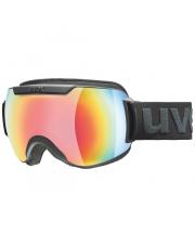 Topowe gogle narciarskie Downhill 2000 FM Uvex czarno czerwone