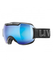 Topowe gogle narciarskie Downhill 2000 FM Uvex czarno niebieskie