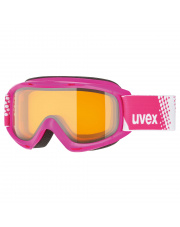 Małe gogle narciarskie Slider LGL Uvex różowe
