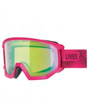 Kanciaste gogle narciarskie Athletic CV Uvex różowe