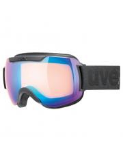 Komfortowe gogle narciarskie Downhill 2000 CV Uvex czarno niebieskie