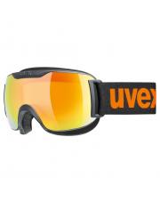 Komfortowe gogle narciarskie Downhill 2000 CV Uvex czarne z logo