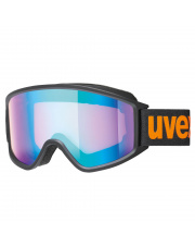 Duże gogle narciarskie G.GL 3000 CV Uvex czarne z pomarańczowym logo