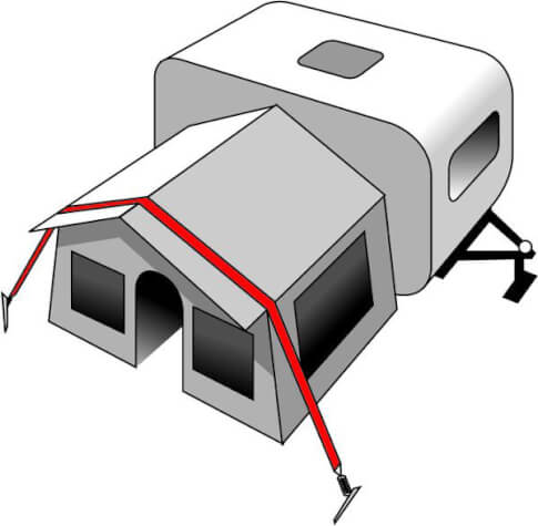 Naciąg przeciw wietrzny Brunner - Stabilizer Kit - 13m