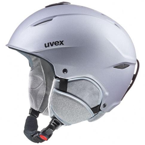 Uniwersalny kask narciarski Primo Uvex srebrny