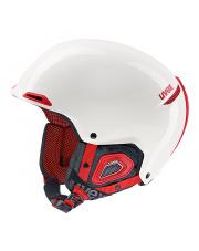 Komfortowy kask z otworami na słuchawki JAKK+ Octo+ Uvex biało czerwony
