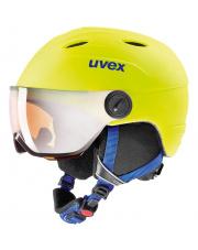 Dziecięcy kask narciarski z wizjerem Junior Visor Pro żółty