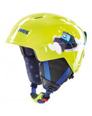 Lekki kask narciarski dla dzieci Manic Uvex limonkowy