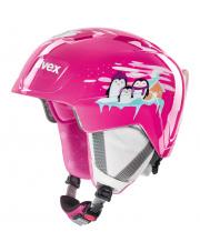 Lekki kask narciarski dla dzieci Manic Uvex różowy