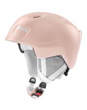 Juniorski kask narciarski Manic Pro Uvex pudrowy róż