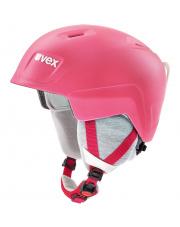 Juniorski kask narciarski Manic Pro Uvex różowy