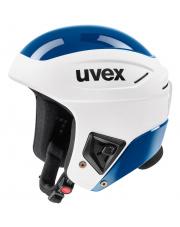 Profesjonalny kask sportowy Race+ Uvex biało niebieski