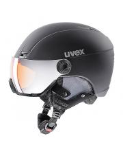 Kask narciarski z wizjerem Hlmt 400 visor style Uvex czarny