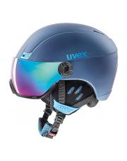 Kask narciarski z wizjerem Hlmt 400 visor style Uvex granatowy