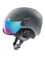 Kask narciarski z wizjerem Hlmt 400 visor style Uvex szary