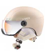 Kask narciarski z wizjerem Hlmt 400 visor style Uvex beżowy