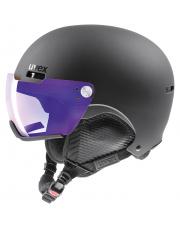 Kask narciarski z wizjerem Hlmt 500 visor V Uvex czarny