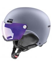 Kask narciarski z wizjerem Hlmt 500 visor V Uvex szary