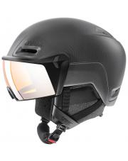 Kask sportowy Inmould z wizjerem Hlmt 700 Visor Uvex czarny