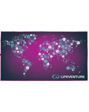 Ręcznik turystyczny szybkoschnący Soft Fibre Advance Kwiaty Lifeventure