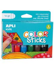 Farby w kredce 6 kolorów Apli Kids