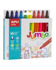 Flamastry Jumbo 10 kolorów Apli Kids