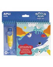 Kolorowanka wodna - Morze Apli Kids