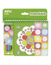 Kolorowanka z kredkami - Mandala Apli Kids