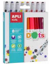 Kropkowe flamastry - 8 kolorów Apli Kids