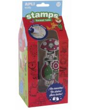 Stempelki z markerem Las 3+ Apli Kids