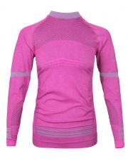 Termoaktywna bluza damska Under Shirt Lady raspberry pink Milo