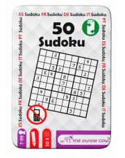 Gra na podróż łamigłówki 50 Sudoku The Purple Cow