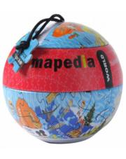 Puzzle w metalowej kuli  Mapa Świata 100 el. The Purple Cow
