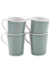 Zestaw 4 kubków turystycznych Blossom Mug Set blue shadow Outwell